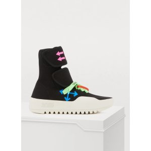 OFF WHITE Moto high top sneakers