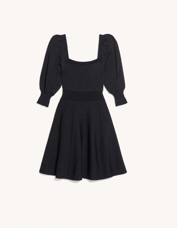 方领法式连衣裙