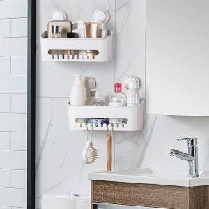 8折起 低至€12.78可收Amazon 沐浴置物架闪促 免打孔不伤墙面 多规格自由选择