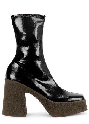 Stella McCartney Alter 115 black faux leather ankle boots - Harvey Nichols