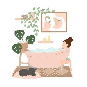 沐浴风 装饰画