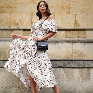 低至3折 细节精致超仙长裙$28起Selfridges 美裙专场 女神范法式蕾丝连衣裙超好价