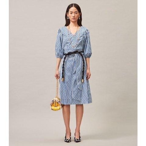 Gemini Link Stripe Wrap Skirt