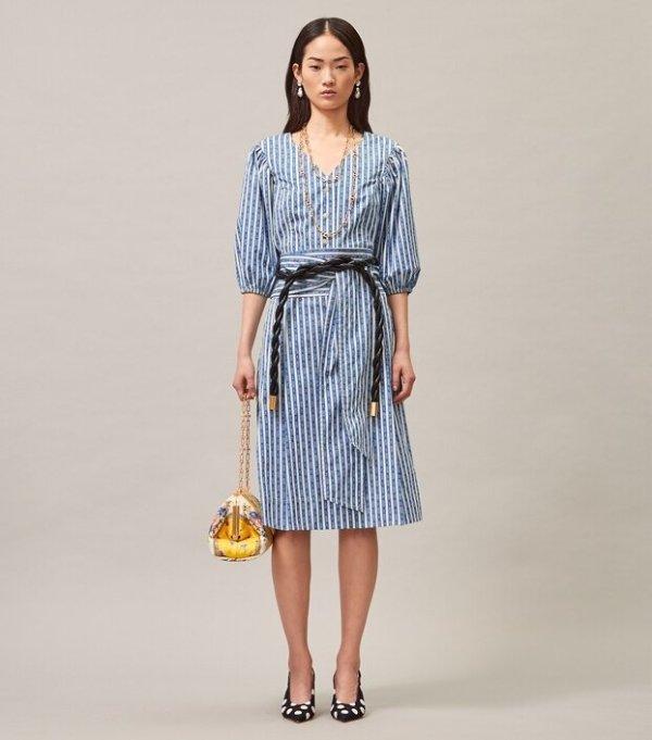宋妍霏同款条纹半身裙