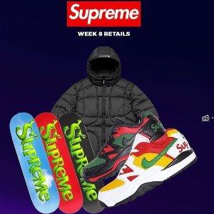 已发售Supreme x Nike 合作鞋款登场 Week 8 发售清单