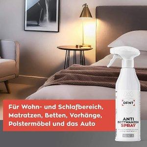 500ml售价€19.9DFNT 防臭虫喷雾 3个月持久有效 适用于床品、沙发、车内