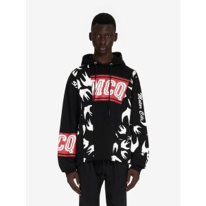 MCQ ALEXANDER MCQUEENVarsity Cut-Up Swallow Hoodie