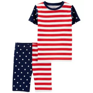 Carter's儿童国旗配色睡衣套装