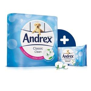 68折起,45卷装只需£17.50折扣升级:英亚精选 Andrex 等舒柔卫生纸、湿巾特卖