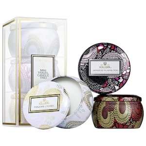 Mini Candle Trio - Panjore Lychee, Japanese Plum Bloom, Goji & Tarocco Orange - VOLUSPA | Sephora