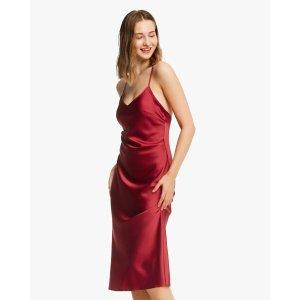 LILYSILKBOGO 40% offElegant Bra-In Silk Midi Dress