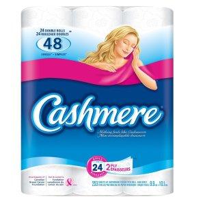 $8.93 (原价$19.99)Cashmere 双层24卷卫生纸