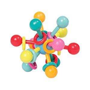 $4.49 锻炼精细动作Manhattan Toy 原子结构拨浪牙胶球