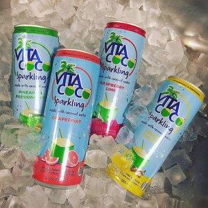 $21.59 天然椰子水也能劲道十足Vita Coco 果味气泡椰子水 12oz  12听