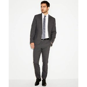 ExpressExtra Slim Check Stretch Wool-blend Suit Pant