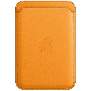 AppleLeather Wallet with MagSafe (for iPhone) - California Poppy
