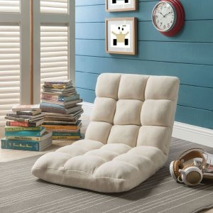 Loungie Armless Multi-Position Microplush Recliner: Home