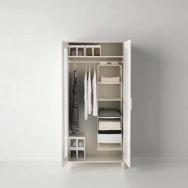 6层衣物收纳架 35x45x125 cm