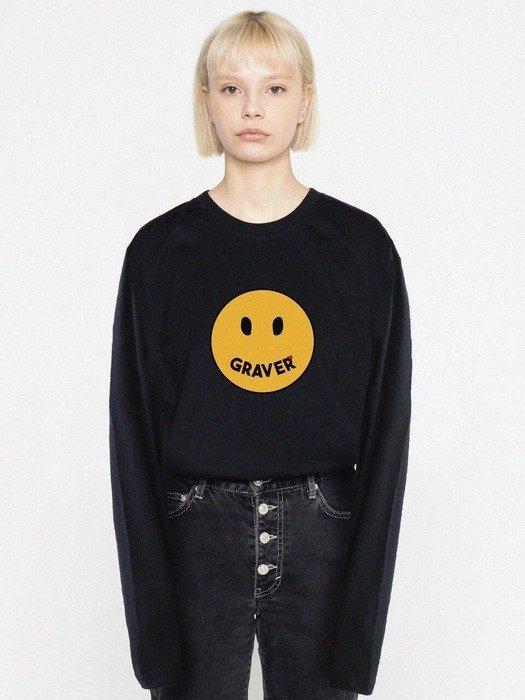 黑色笑脸卫衣