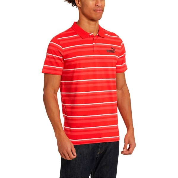 ESS+ Striped 男士Polo衫