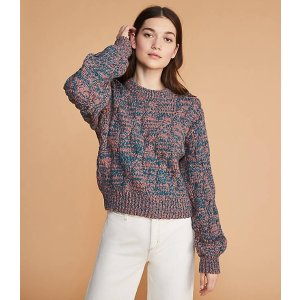LOU & GREYMarled Cable Sweater