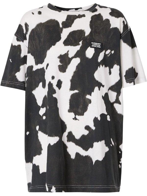 奶牛纹T恤