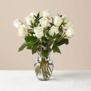 12 月光白玫瑰+花瓶
