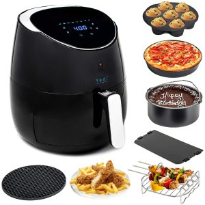 Yedi Total Package Air Fryer XL, 5.8 Quart, Deluxe Accessory Kit