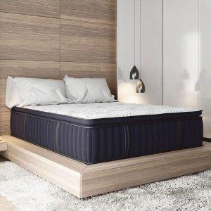 6.5折+$500礼卡 送枕头2个Sapphire Dream 高端记忆棉弹簧床垫热卖