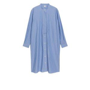 arket细条纹衬衫裙