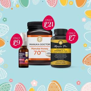 低至2.2折+额外9折Manuka Doctor 复活节大促 春季必备蜂蜜肠胃调理神器