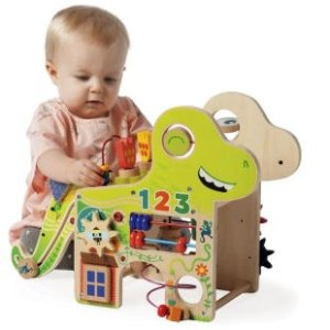 Manhattan Toy木质小恐龙儿童串珠玩具