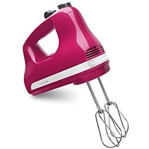 Amazon.com: KitchenAid KHM512CB 5-Speed Hand Mixer, Cranberry: Kitchen & Dining