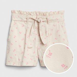 Gap女童 小花短裤
