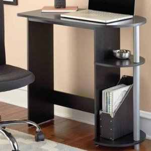 $20.22Mainstays Black Computer Desk with Built-in Shelves