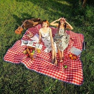 超大复古红色野餐垫