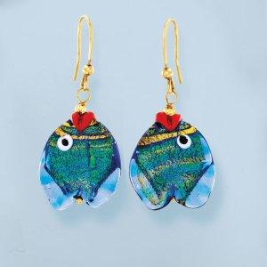 Ross-SimonsItalian Multicolored Murano Glass Fish Drop Earrings with 18kt Gold Over Sterling | Ross-Simons