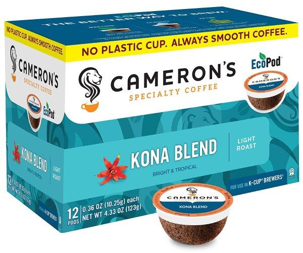 Cameron's Kona Blend K Cup咖啡胶囊 72颗
