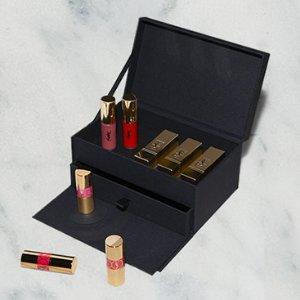 送封面唇膏+唇釉8支装礼盒!YSL 彩妆爆款制造机 小粉条、新款1966等