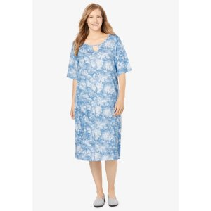 A-Line Keyhole Dress| Plus Size Dresses