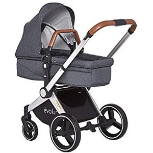 Evolur Nova Reversible Seat Stroller, Grey @ Amazon