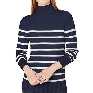 Amazon Essentials 女士高领条纹毛衣 XL
