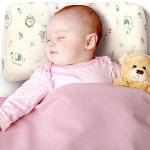 直邮含税到手价$61SleepTom 婴儿记忆棉枕 改善孩子头型 透气柔软抗菌吸汗