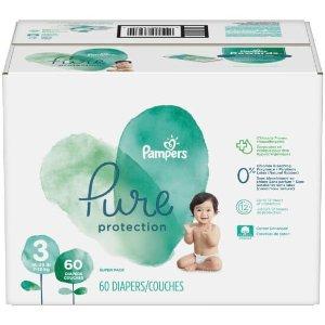 Pampers需用码PAMPERS5纯保护纸尿裤 0-6号 38-68个量贩装