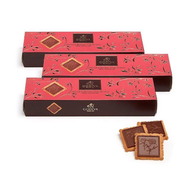 方块牛奶巧克力饼干 3盒 每盒12块