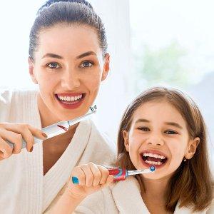 $9.48(原价$15.99)Oral-B 儿童电动牙刷 可替换刷头 牙医推荐品牌