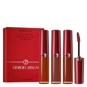 GIORGIO ARMANI beauty全热色号!205+206+405 红管唇釉套装