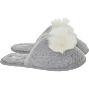 Lovestruck灰色毛毛拖鞋