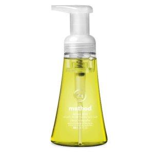 闪购价$11.93 一瓶只需$1.98Method 柠檬薄荷味泡沫洗手液 10oz 6瓶