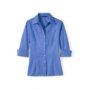 Lands' EndWomen's Petite 3/4-sleeve Tonal Stripe Shirt